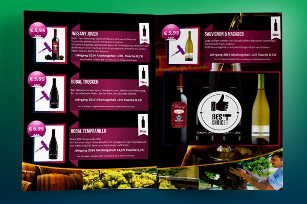Brochure Design für Wesany Wine